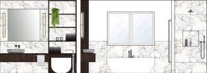 Master Bathroom Elevations